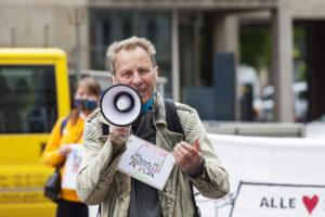 Joachim Barloschky vom Bündnis Menschenrecht auf Wohnen