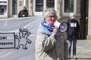 Jutta Schneider vom Arbeitskreis Bremer Protest