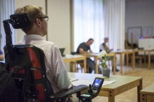 Arne Frankenstein, neuer Landesbehindertenbeauftragter als Überraschungsgast in der Jahreshauptversammlung der LAGS Bremen